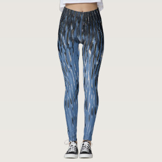 Cool leggings with dark blue water background