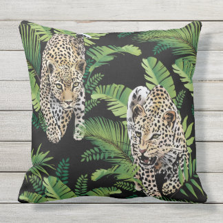 Cool Leopards Pattern throw pillows