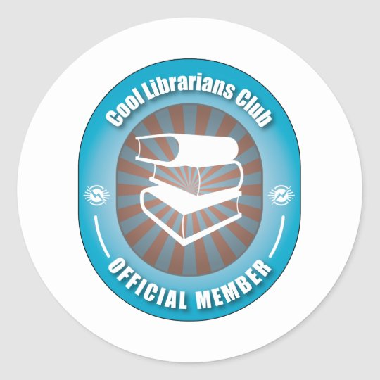 Cool Librarians Club Classic Round Sticker