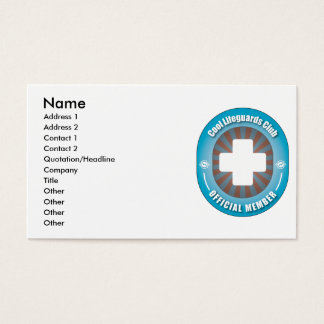 Cool Lifeguards Club Business Card