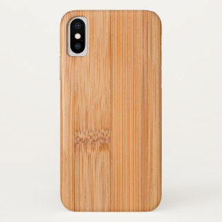 Cool light brown bamboo wood print iPhone x case