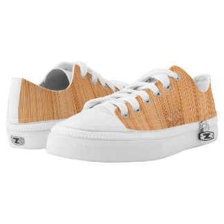 Cool light brown bamboo wood print Low-Top sneakers