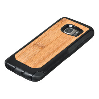 Cool light brown bamboo wood print OtterBox samsung galaxy s7 case