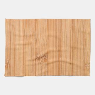 Cool light brown bamboo wood print towel