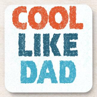 cool like dad beverage coasters