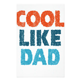 cool like dad stationery