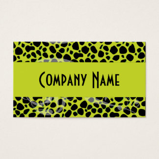 Cool Lime Green Cheetah Skin Business Card
