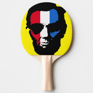 Cool Lincoln Sunglasses Pop Art (Red White Blue) Ping Pong Paddle
