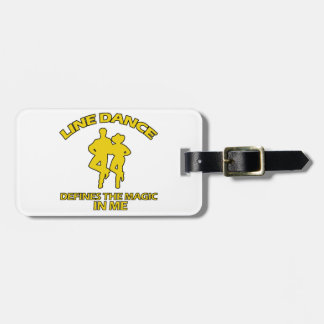 cool Line dance designs Luggage Tag
