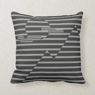 Cool line landscape throw pillow