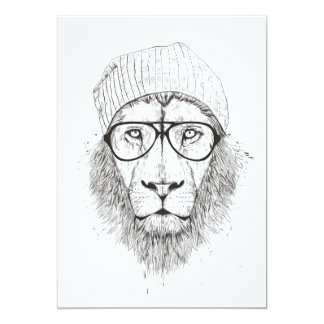 Cool lion (blackandwhite) card