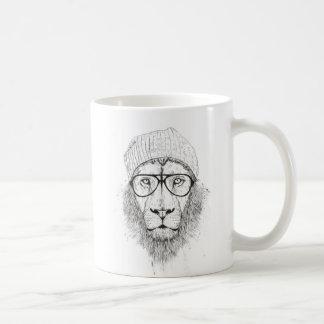 Cool lion (blackandwhite) coffee mug