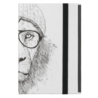 Cool lion (blackandwhite) iPad mini case