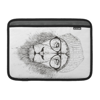 Cool lion (blackandwhite) MacBook sleeve