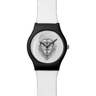 Cool lion (blackandwhite) watch