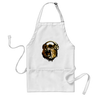 Cool Lion head with glasses and headphones Standard Apron