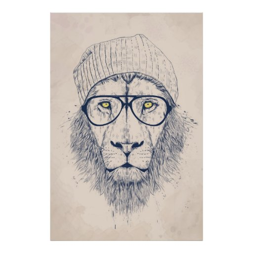 Cool lion posters