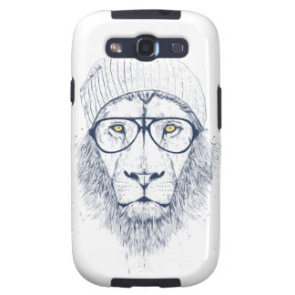 Cool lion white samsung galaxy SIII cases