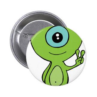 Cool Little Alien 2 Inch Round Button