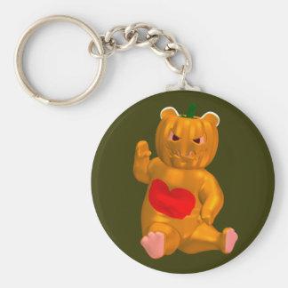 Cool Little Halloween Bear Basic Round Button Keychain