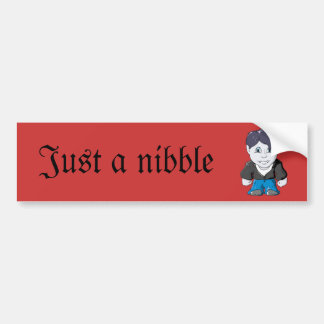 Cool Little Vamp in black leather jacket Bumper Sticker