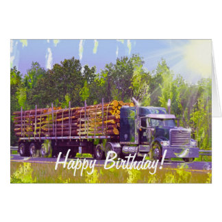 COOL LORRY Funny Trucker Birthday Cards