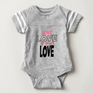 cool love designs baby bodysuit