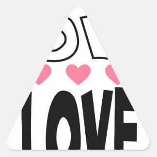 cool love designs triangle sticker