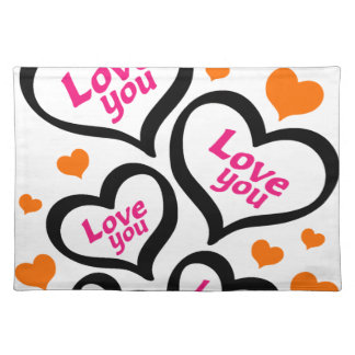 cool love hearts placemat