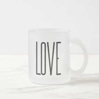 Cool Love – Minimalist Graphic Design Frosted Glass Coffee Mug