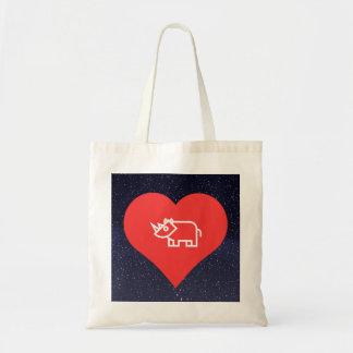 Cool Love Rhinoceros Tote Bag
