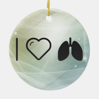 Cool Lungs Ceramic Ornament
