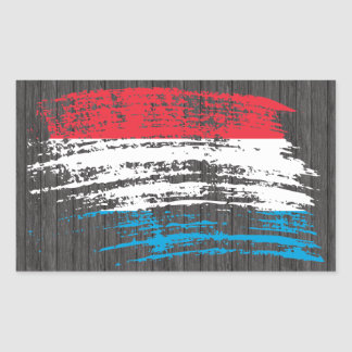 Cool Luxembourger flag design Sticker