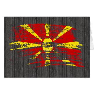 Cool Macedonian flag design Card