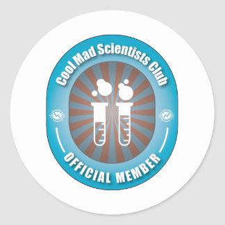 Cool Mad Scientists Club Classic Round Sticker