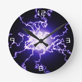 Cool Magic Lightning ball Round Clock