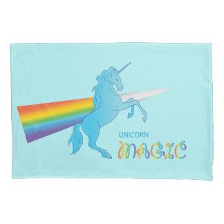 Cool magic Unicorn with bright rainbow. Fantasy. Pillowcase
