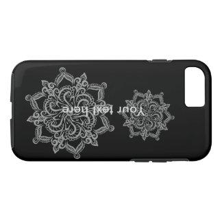 Cool mandala pattern black iPhone 7 phone case