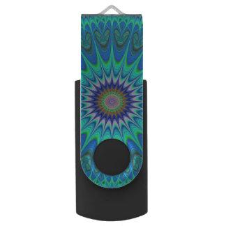 Cool mandala swivel USB 3.0 flash drive