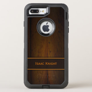 Cool Manly Faux Wooden Baltic Pine Wood Rugged OtterBox Defender iPhone 8 Plus/7 Plus Case