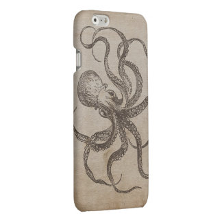 Cool Manly Vintage Octopus Sea Animals Old Paper