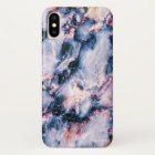 Cool Marble Texture blue pink white iPhone X Case