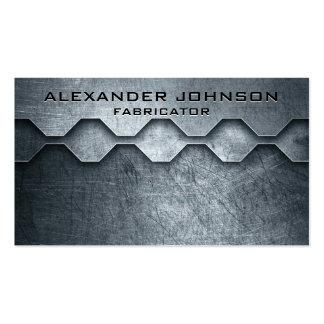 Cool Masculine Metallic Look Mechanical Fabricator Business Card