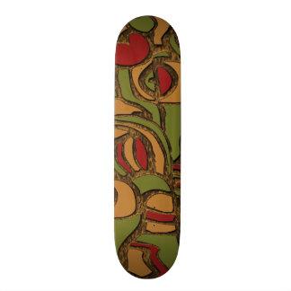 Cool Mayan Hieroglyphs Design Skateboard Deck