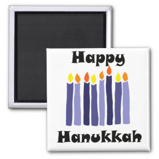 Cool Menorah Candles Happy Hanukkah Art Magnet