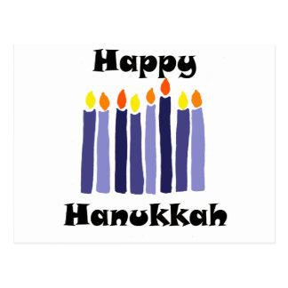 Cool Menorah Candles Happy Hanukkah Art Postcard