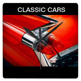 Cool Men's Classic Car Design Square Wall Clock