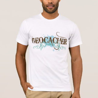 Cool Mens Geocacher Grunge Tee Gift