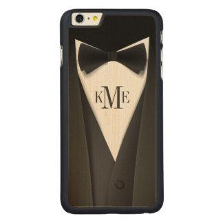 Cool Mens Tuxedo Suit Pattern - Manly Monogram Carved® Maple iPhone 6 Plus Bumper Case