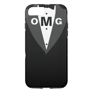 Cool Mens Tuxedo Suit Pattern Monogram iPhone 7 Case